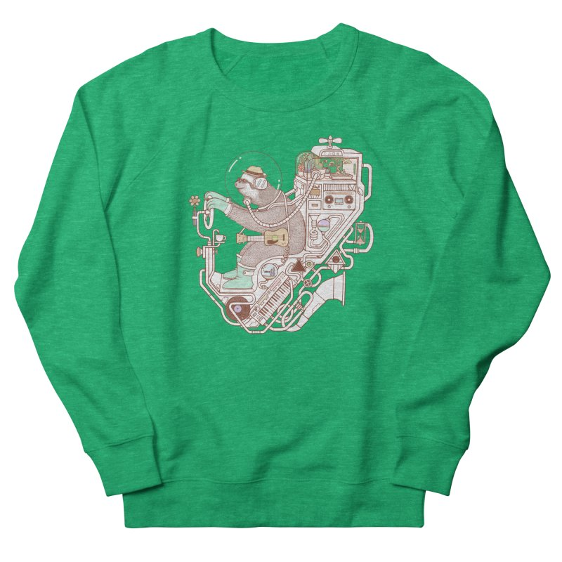 sloth machine Women's Sweatshirt by makapa's Artist Shop