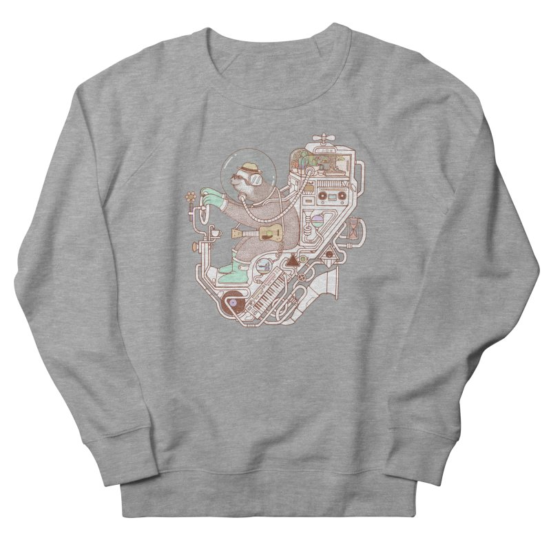 sloth machine Women's French Terry Sweatshirt by makapa's Artist Shop