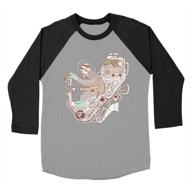 sloth machine Men's Baseball Triblend Longsleeve T-Shirt by makapa's Artist Shop