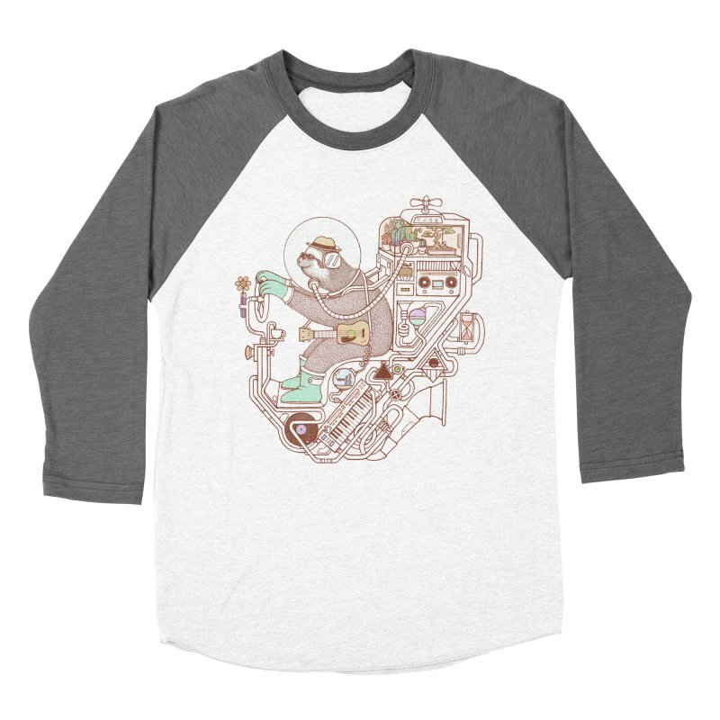 sloth machine Men's Baseball Triblend Longsleeve T-Shirt by makapa's Artist Shop