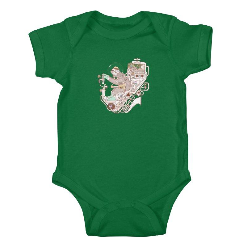 sloth machine Kids Baby Bodysuit by makapa's Artist Shop