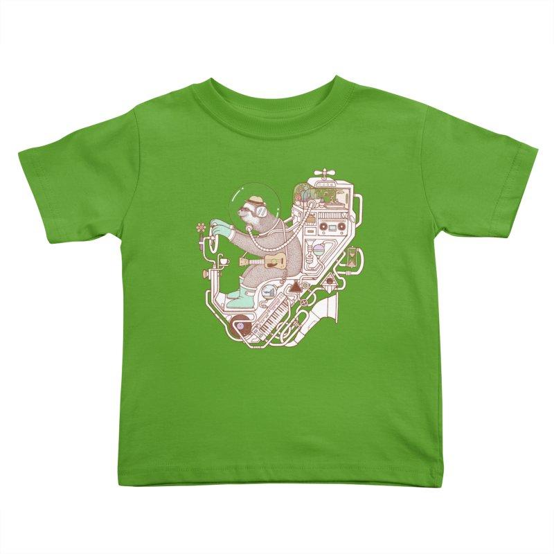 sloth machine Kids Toddler T-Shirt by makapa's Artist Shop