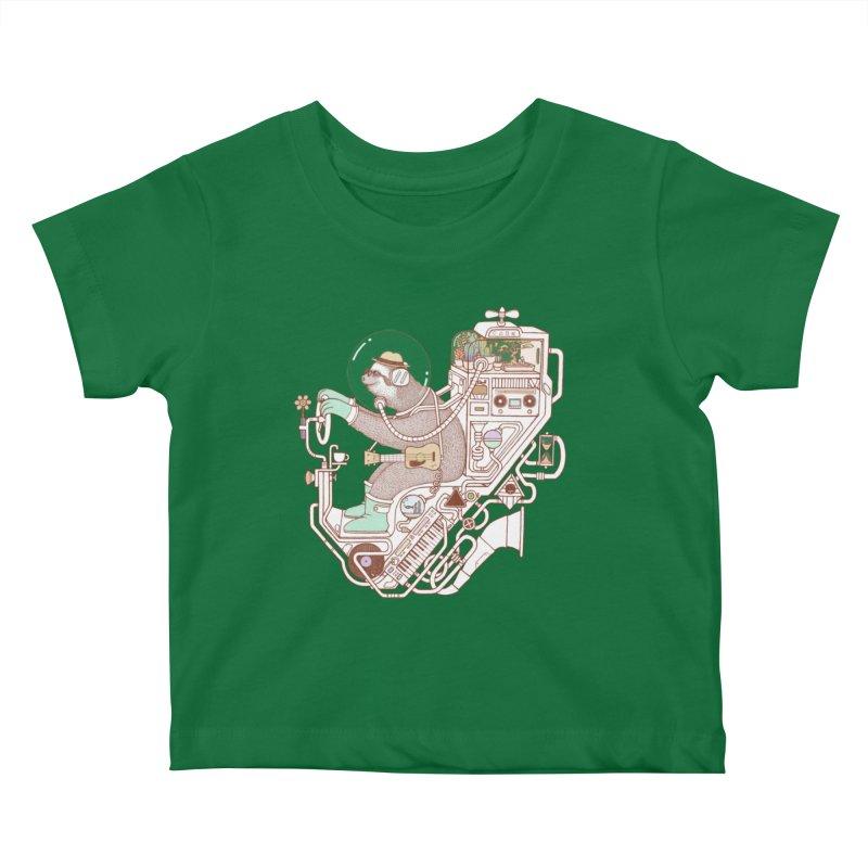 sloth machine Kids Baby T-Shirt by makapa's Artist Shop