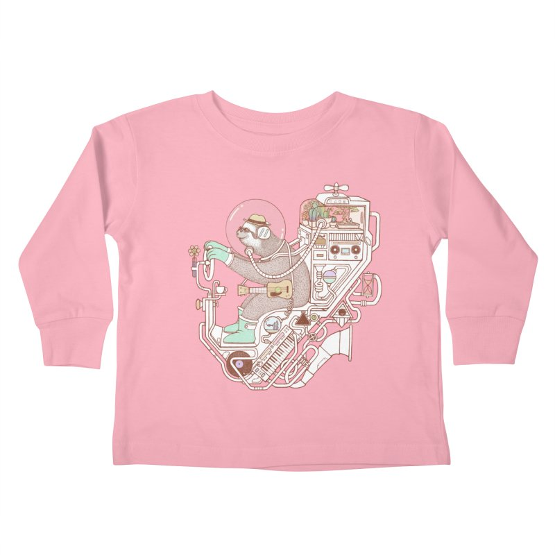 sloth machine Kids Toddler Longsleeve T-Shirt by makapa's Artist Shop