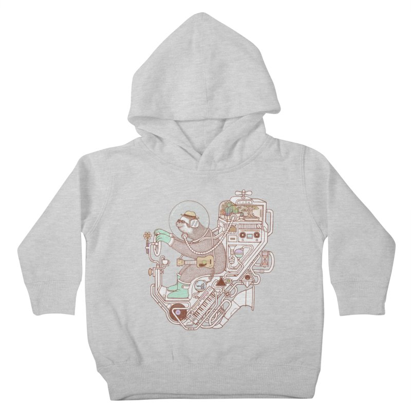 sloth machine Kids Toddler Pullover Hoody by makapa's Artist Shop