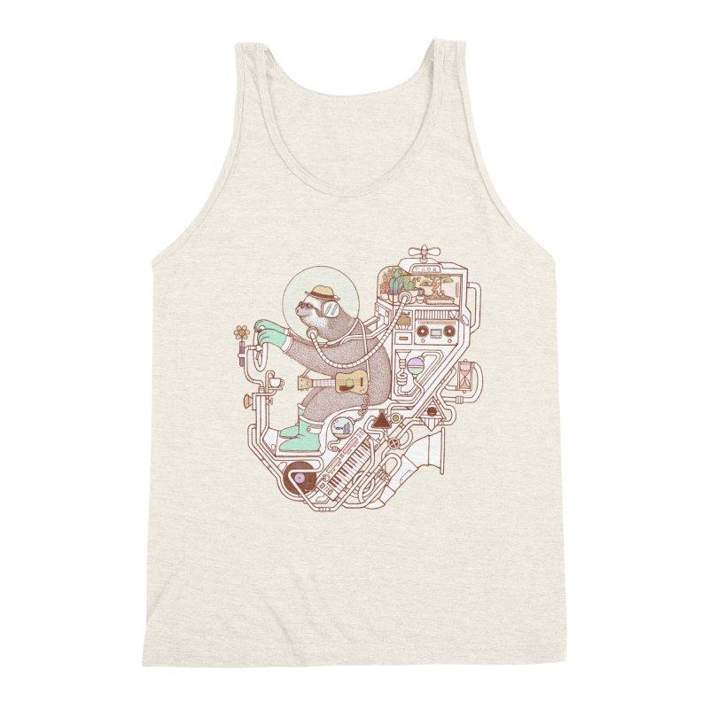sloth machine Men's Triblend Tank by makapa's Artist Shop