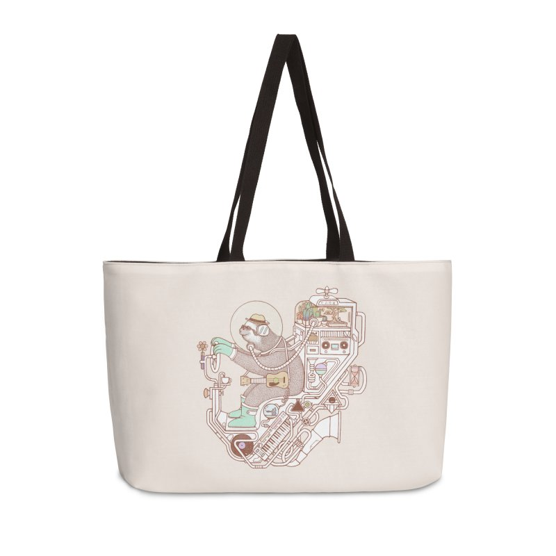 sloth machine Accessories Weekender Bag Bag by makapa's Artist Shop