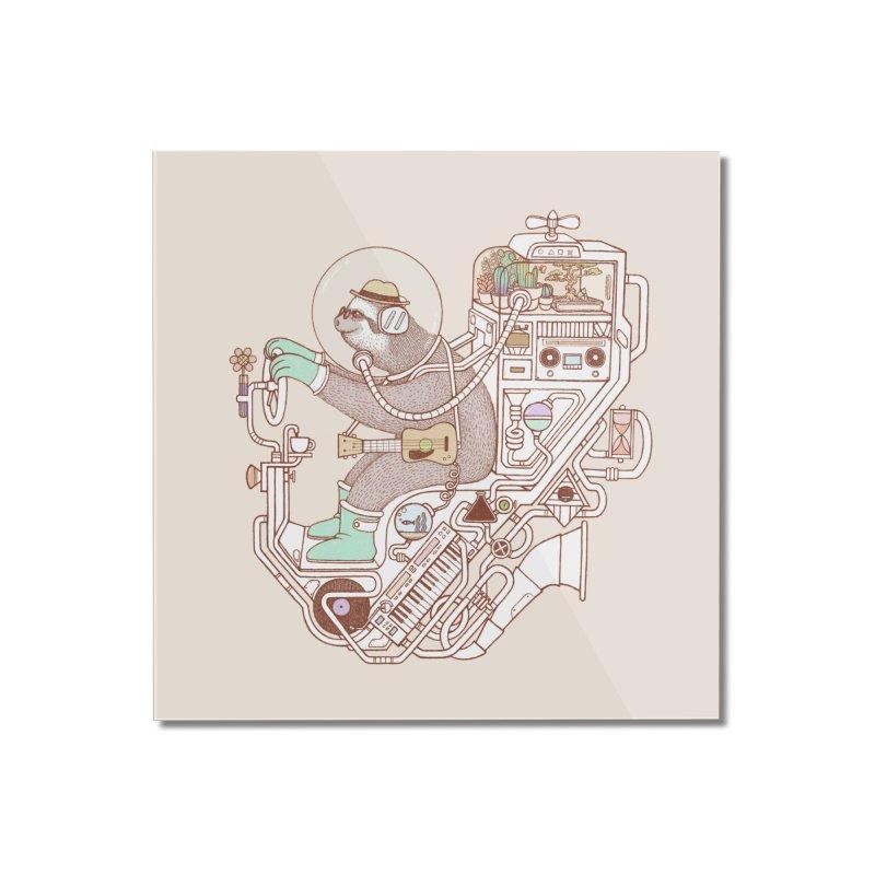 sloth machine Home Mounted Acrylic Print by makapa's Artist Shop