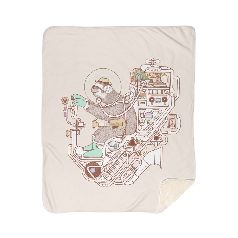 sloth machine Home Sherpa Blanket Blanket by makapa's Artist Shop