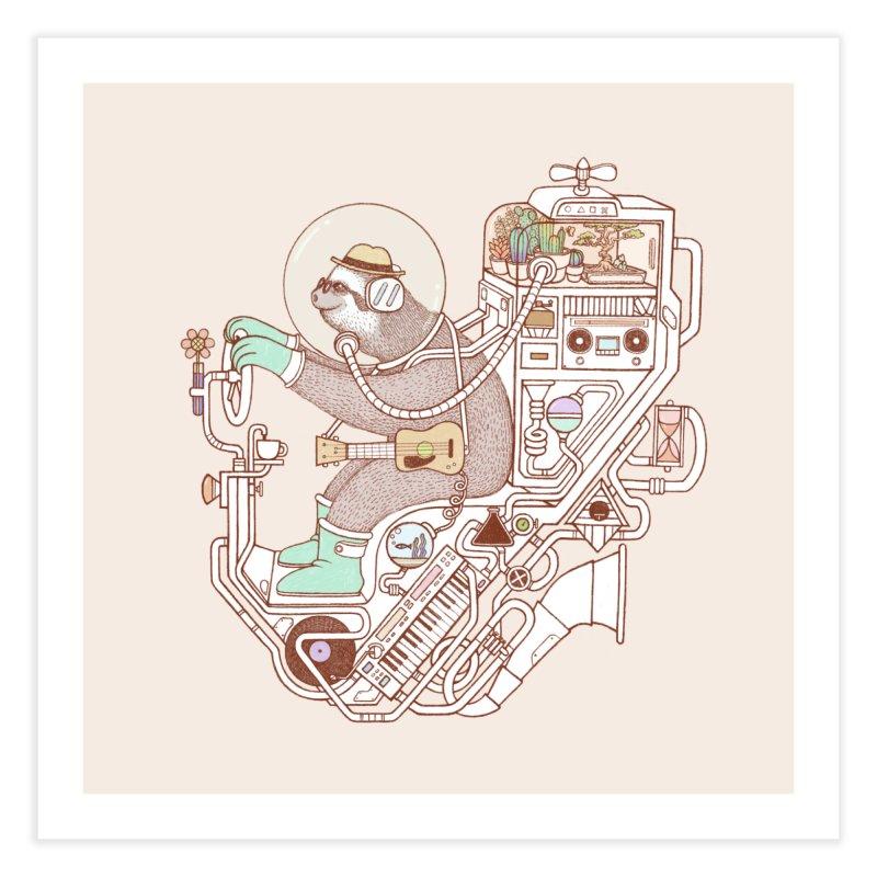sloth machine Home Fine Art Print by makapa's Artist Shop