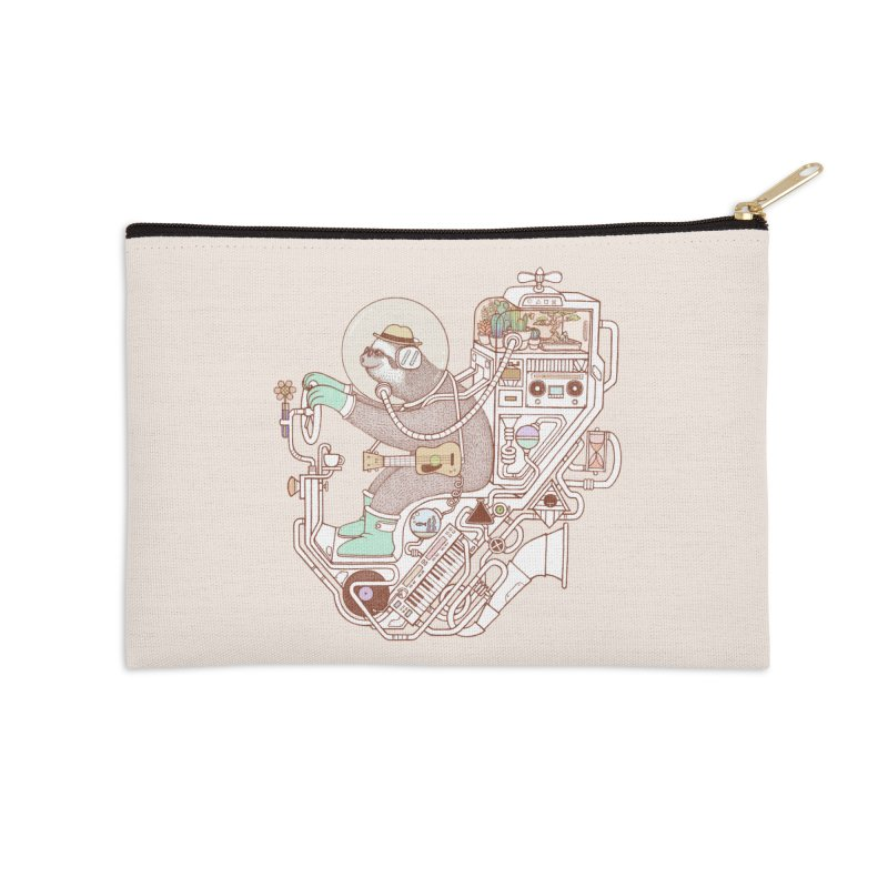 sloth machine Accessories Zip Pouch by makapa's Artist Shop