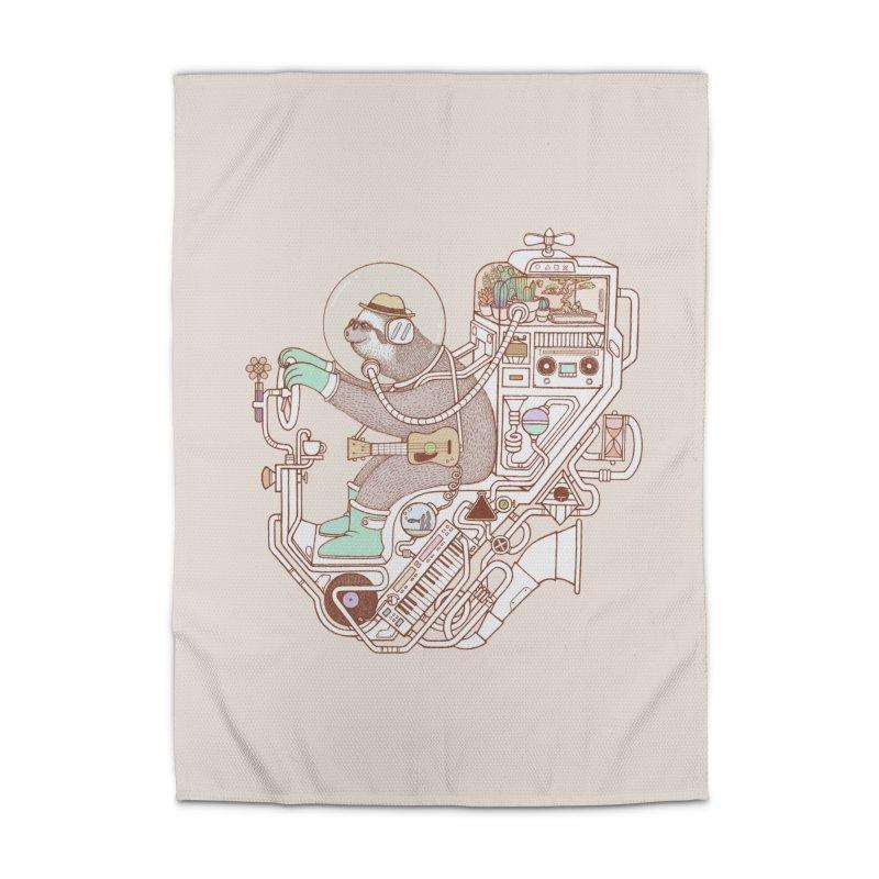 sloth machine Home Rug by makapa's Artist Shop