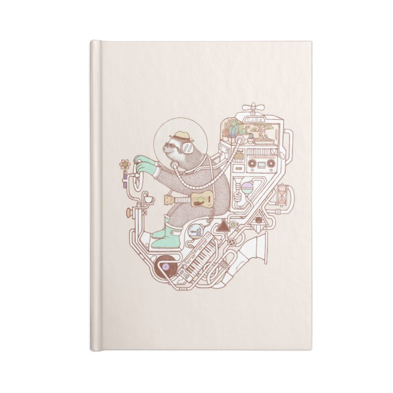 sloth machine Accessories Lined Journal Notebook by makapa's Artist Shop