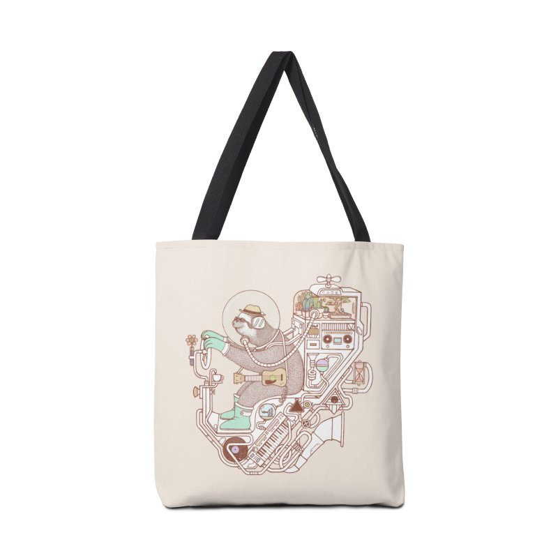 sloth machine Accessories Tote Bag Bag by makapa's Artist Shop