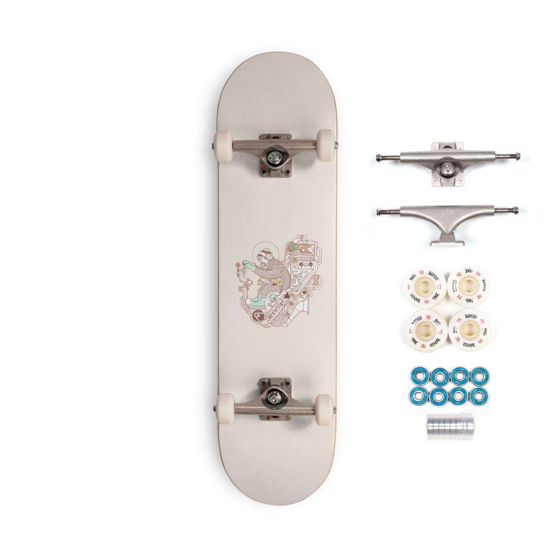 sloth machine Accessories Skateboard by makapa's Artist Shop