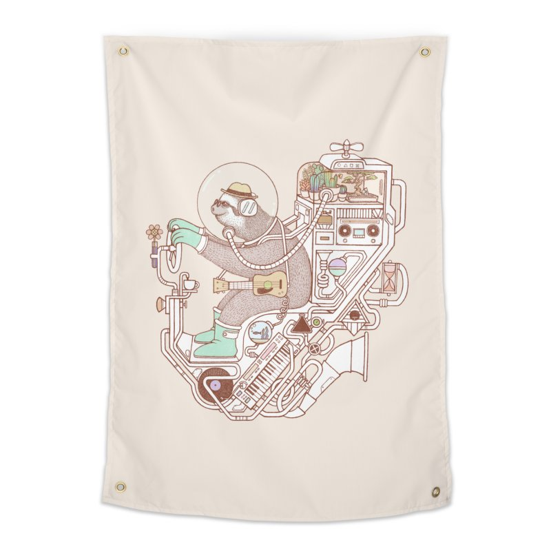 sloth machine Home Tapestry by makapa's Artist Shop