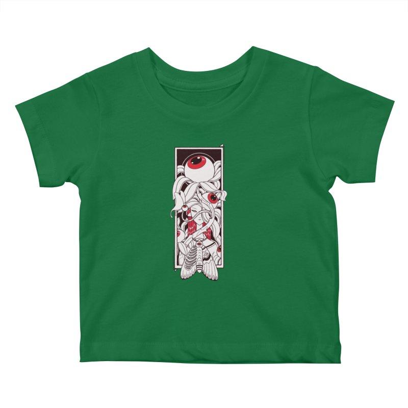 garden of anatomy Kids Baby T-Shirt by makapa's Artist Shop