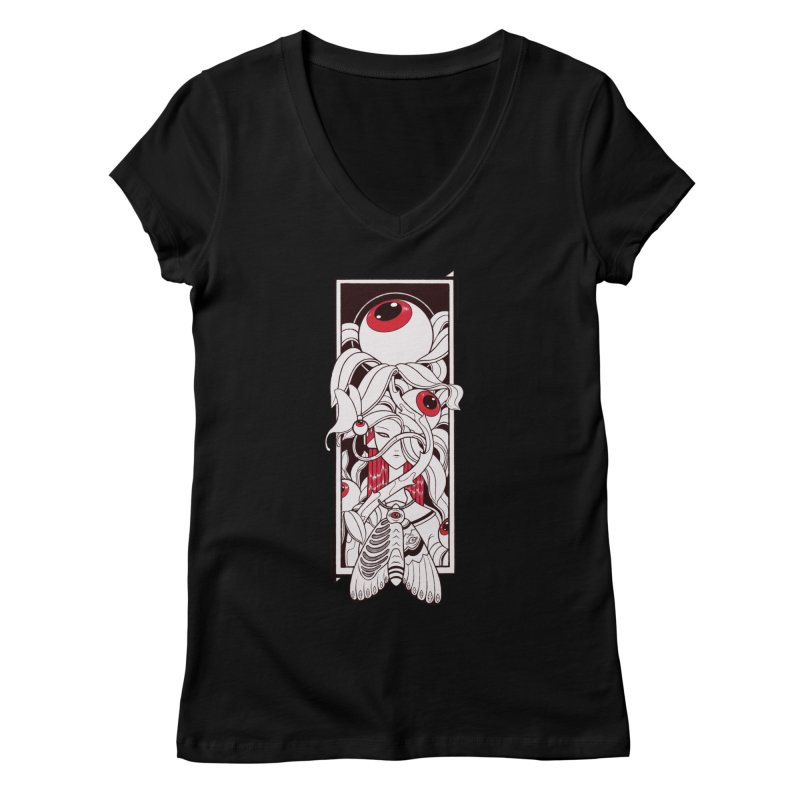 garden of anatomy Women's V-Neck by makapa's Artist Shop