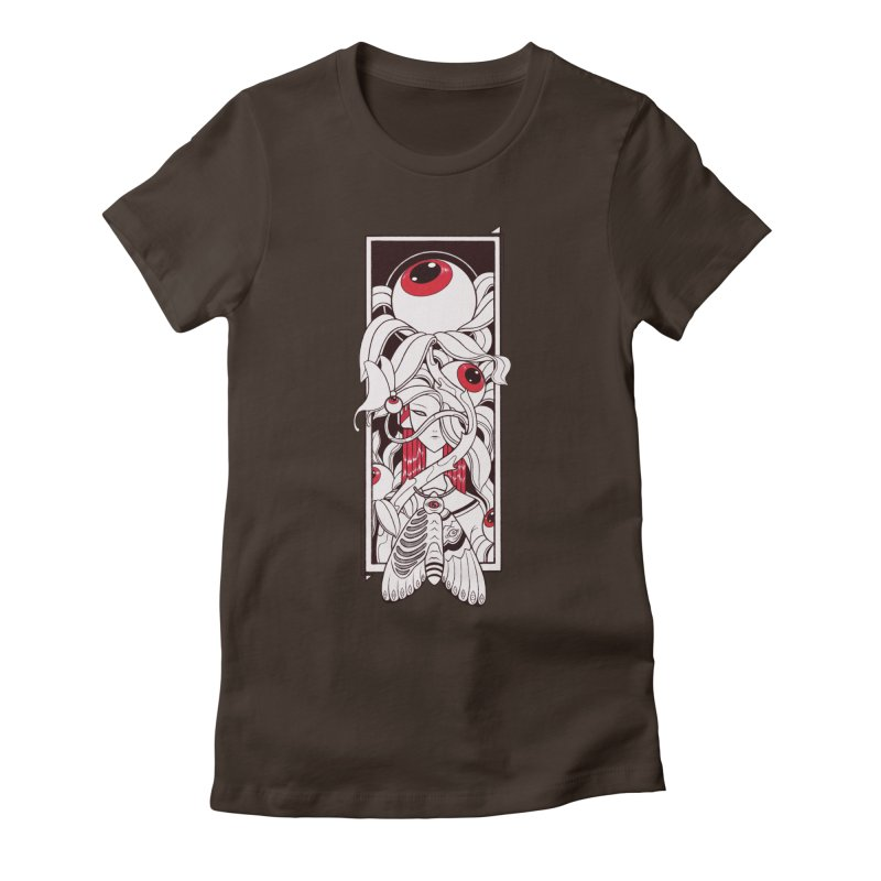 garden of anatomy Women's Fitted T-Shirt by makapa's Artist Shop