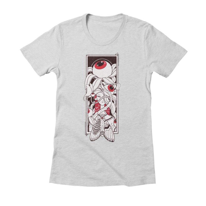 garden of anatomy Women's Fitted T-Shirt by makapa's Artist Shop