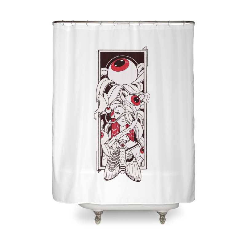 garden of anatomy Home Shower Curtain by makapa's Artist Shop