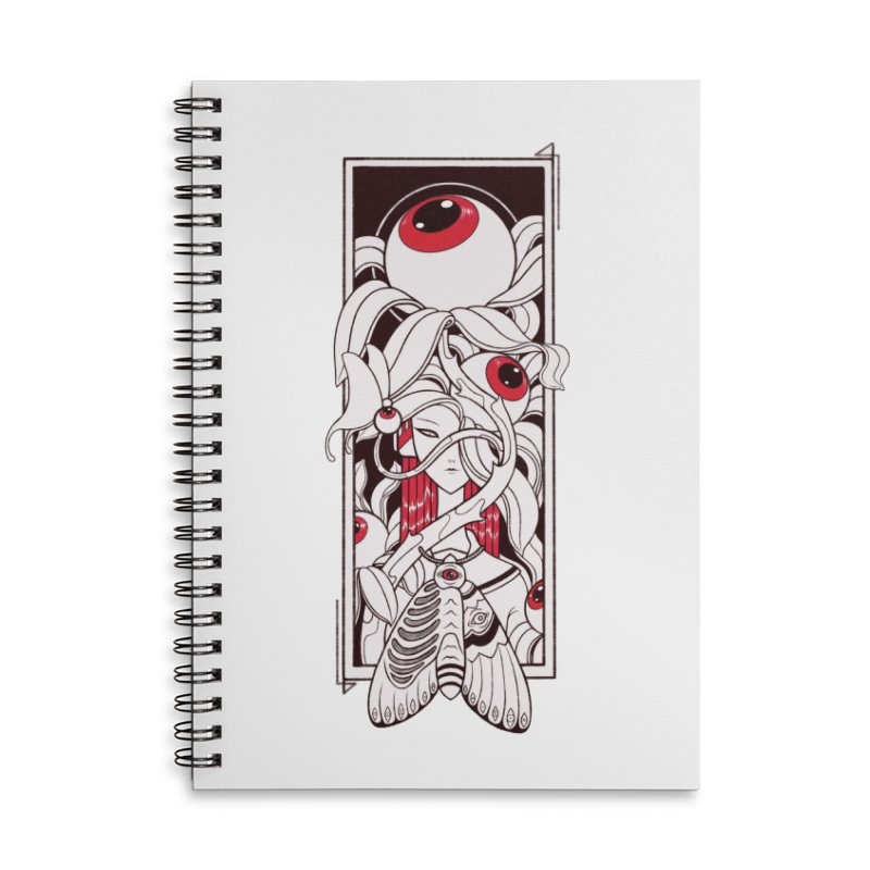 garden of anatomy Accessories Lined Spiral Notebook by makapa's Artist Shop