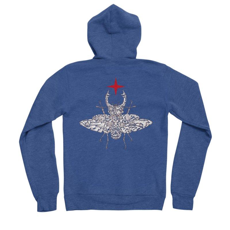 beetle layer of soul Women's Sponge Fleece Zip-Up Hoody by makapa's Artist Shop
