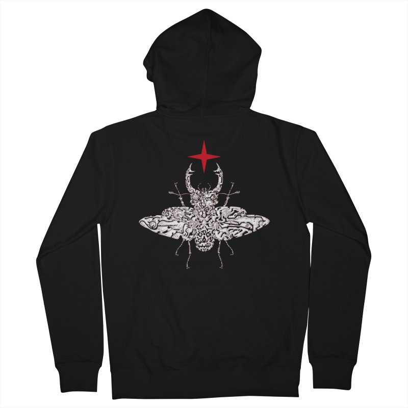 beetle layer of soul Women's French Terry Zip-Up Hoody by makapa's Artist Shop