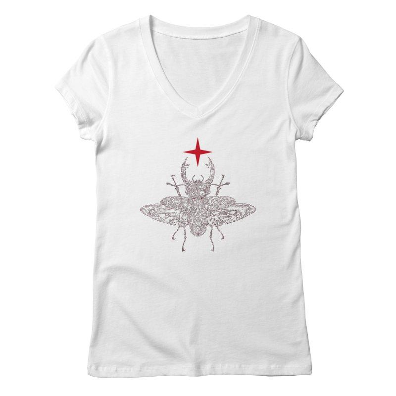 beetle layer of soul Women's Regular V-Neck by makapa's Artist Shop