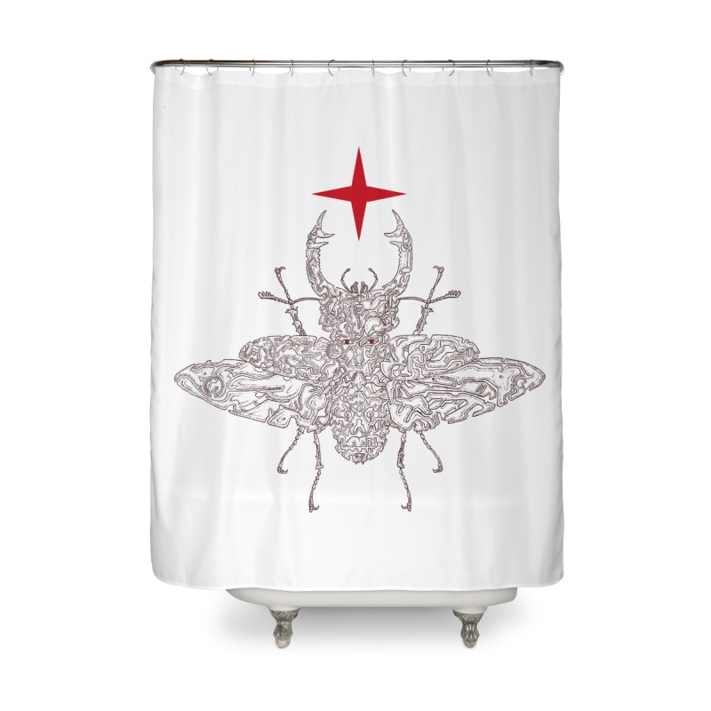 beetle layer of soul Home Shower Curtain by makapa's Artist Shop