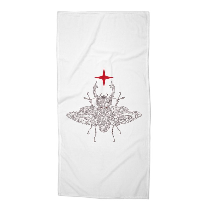beetle layer of soul Accessories Beach Towel by makapa's Artist Shop