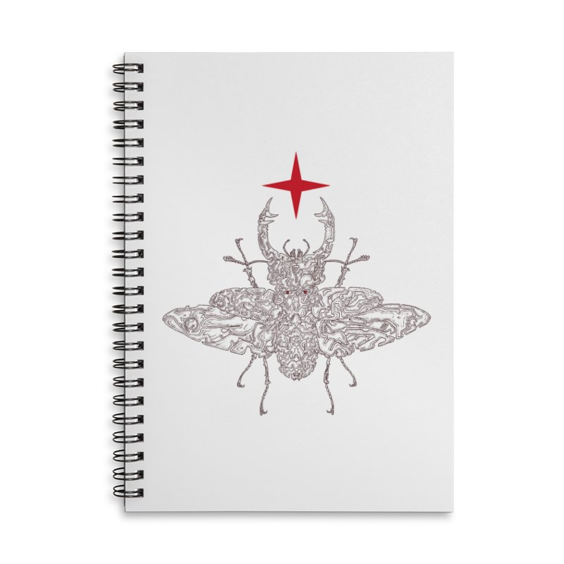 beetle layer of soul Accessories Lined Spiral Notebook by makapa's Artist Shop