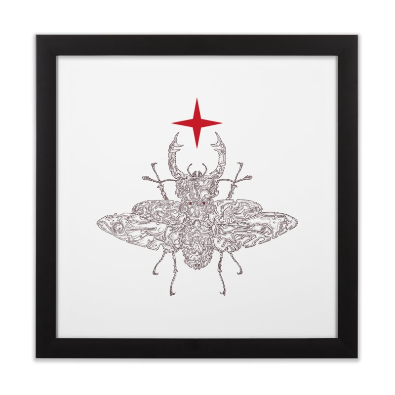 beetle layer of soul Home Framed Fine Art Print by makapa's Artist Shop