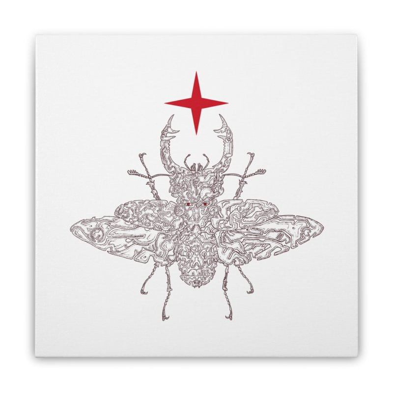 beetle layer of soul Home Stretched Canvas by makapa's Artist Shop