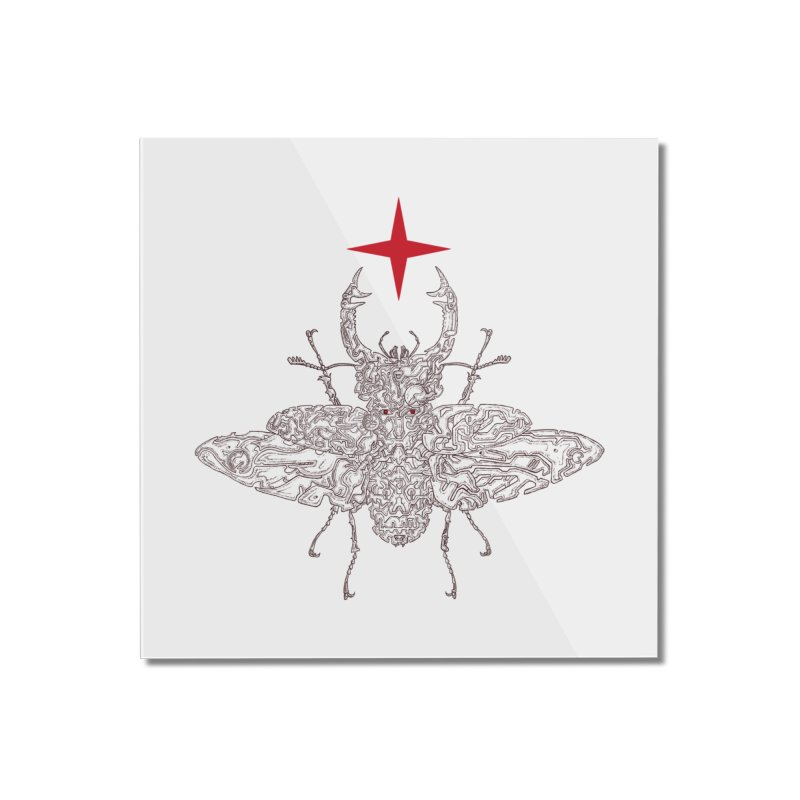beetle layer of soul Home Mounted Acrylic Print by makapa's Artist Shop