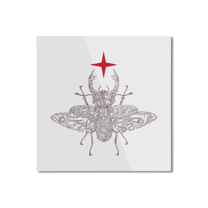 beetle layer of soul Home Mounted Aluminum Print by makapa's Artist Shop