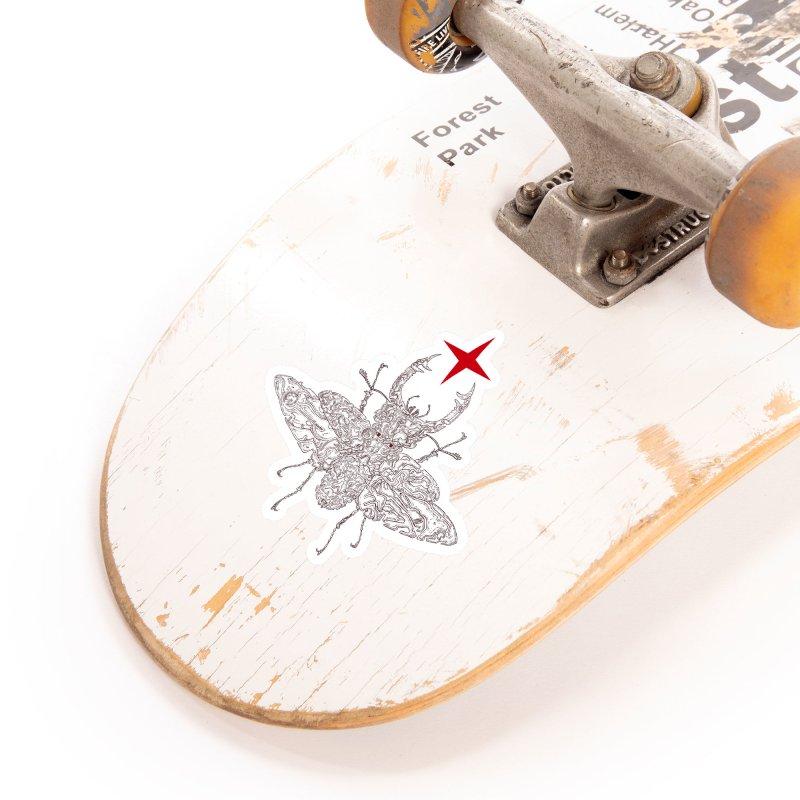 beetle layer of soul Accessories Sticker by makapa's Artist Shop