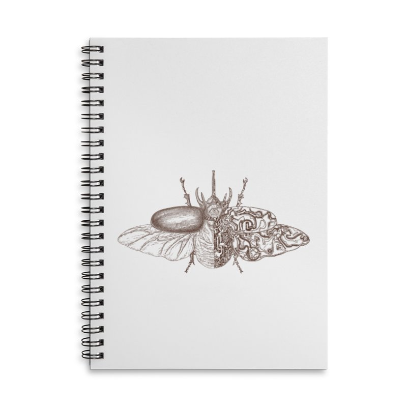 contrast artistic Accessories Lined Spiral Notebook by makapa's Artist Shop