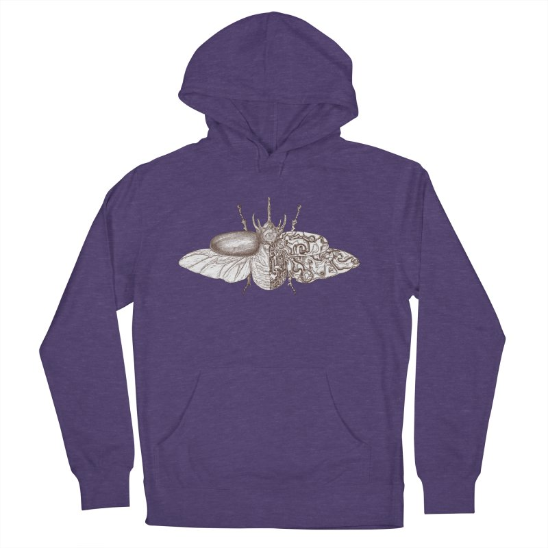 contrast artistic Men's French Terry Pullover Hoody by makapa's Artist Shop