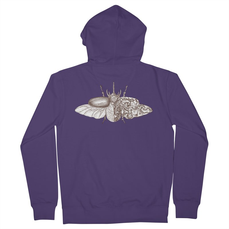 contrast artistic Women's French Terry Zip-Up Hoody by makapa's Artist Shop
