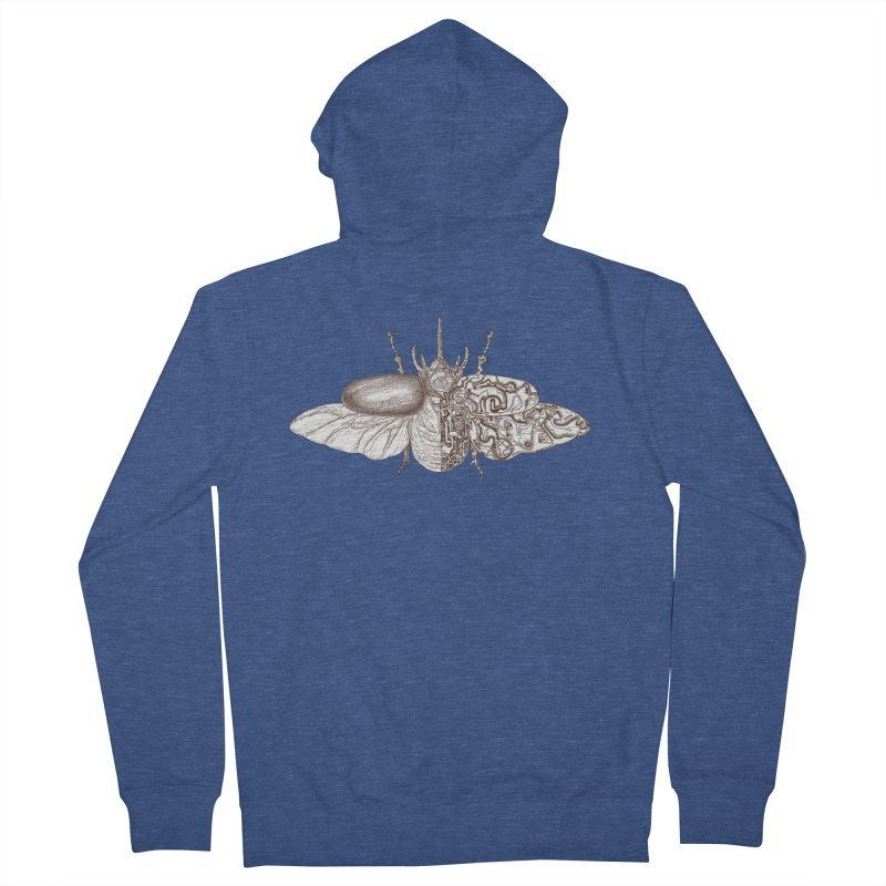 contrast artistic Men's French Terry Zip-Up Hoody by makapa's Artist Shop