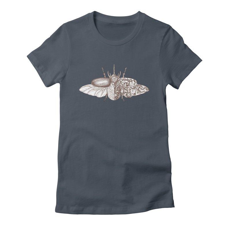 contrast artistic Women's Fitted T-Shirt by makapa's Artist Shop
