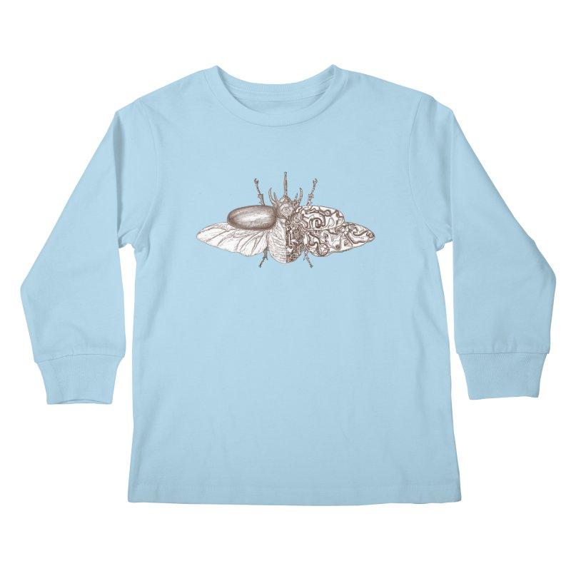contrast artistic Kids Longsleeve T-Shirt by makapa's Artist Shop