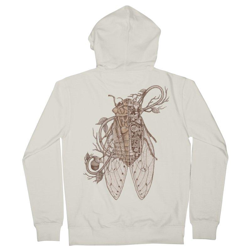 anatomy of cicada Women's Zip-Up Hoody by makapa's Artist Shop