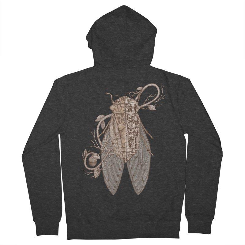 anatomy of cicada Men's Zip-Up Hoody by makapa's Artist Shop