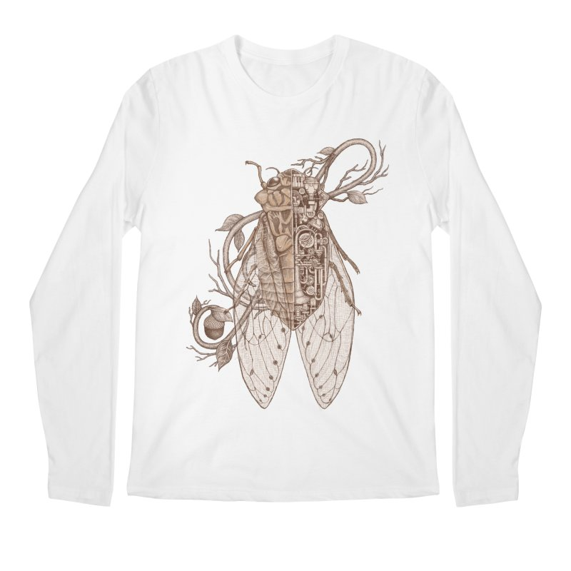 anatomy of cicada Men's Longsleeve T-Shirt by makapa's Artist Shop