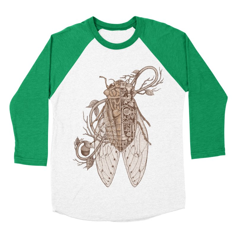 anatomy of cicada Men's Baseball Triblend T-Shirt by makapa's Artist Shop
