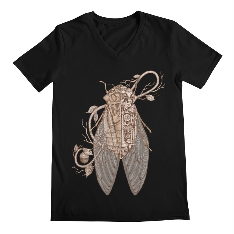 anatomy of cicada Men's V-Neck by makapa's Artist Shop