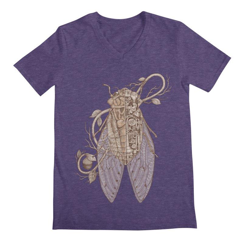 anatomy of cicada Men's V-Neck by makapa's Artist Shop
