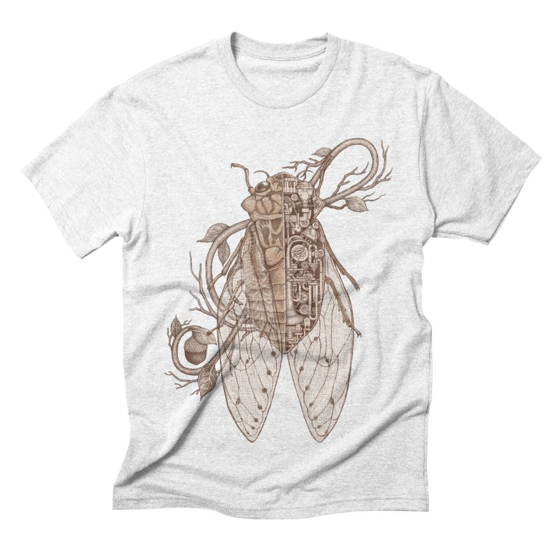 anatomy of cicada Men's Triblend T-shirt by makapa's Artist Shop